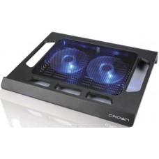 Подставка для ноутбука Crown cmls-937 (black) 15.6''. 2*fan.blue light CMLS-937