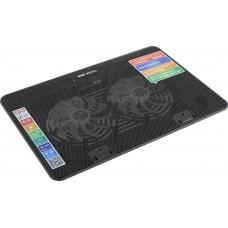 Подставка Stm laptop cooling ip17 black (17.3''. 2x(125x125). 2x2 led backlight. plastic+metal mesh. 3 types height adjustable) IP17