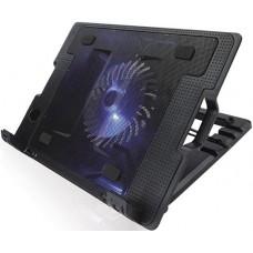 Подставка для ноутбука Crown cmls-926 (black) 15.6''. 1*fan.blue light.2*usb CMLS-926