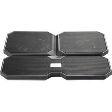 Подставка для ноутбука Deepcool multi core x6 15.6'' 380x295x24mm 24db 2xusb 900g fan-control black MULTICOREX6