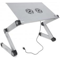 Столик для ноутбука CROWN CMLS-116G (до 17. размеры панели (Д*Ш): 42*27.5см. регулируемая высота до 48см. два кулера. питание от USB) CM000002062