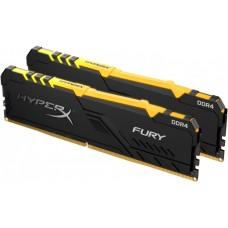 HyperX Fury RGB DDR4 DIMM 3600Mhz PC-28800 CL17 - 16Gb KIT (2x8Gb) HX436C17FB3AK2/16