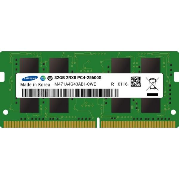Модуль памяти Samsung DDR4   32GB SO-DIMM (PC4-25600)  3200MHz   1.2V (M471A4G43AB1-CWED0)