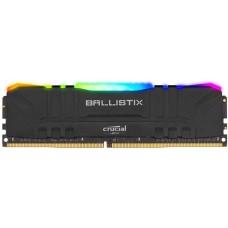 Память для настольных систем, Crucial DRAM Ballistix Black RGB 8GB DDR4 3600MT/s  CL16  Unbuffered DIMM 288pin Black RGB, EAN: 649528824332.(RCISBL8G36C16U4BL)(BL8G36C16U4BL)