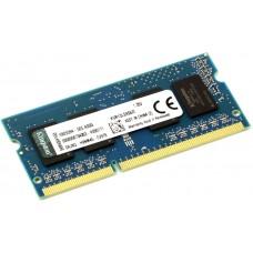 Оперативная память SO-DIMM DDR3 02GB (1x02) KINGSTON KVR13LS9S6/2 [2 Гб. DDR-3. 10600 Мб/с. CL9. 1.35 В]