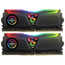 Модуль памяти 16GB GeIL DDR4 3200 DIMM Super Luce RGB SYNC Black Gaming Memory GLS416GB3200C16ADC Non-ECC, CL16, 1.35V, ASUS AURA, Kit (2x8GB), Retail