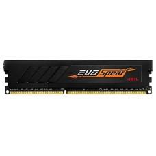 Оперативная память 8GB GeIL DDR4 3000 DIMM EVO Spear Black Gaming Memory GSB48GB3000C16ASC Non-ECC, CL16, 1.35V, RTL