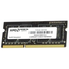 Модуль памяти AMD Radeon™ SO-DIMM DDR3 2GB 1333 R3 Value Series Black R332G1339S1S-U Non-ECC, CL9, 1.5V, RTL