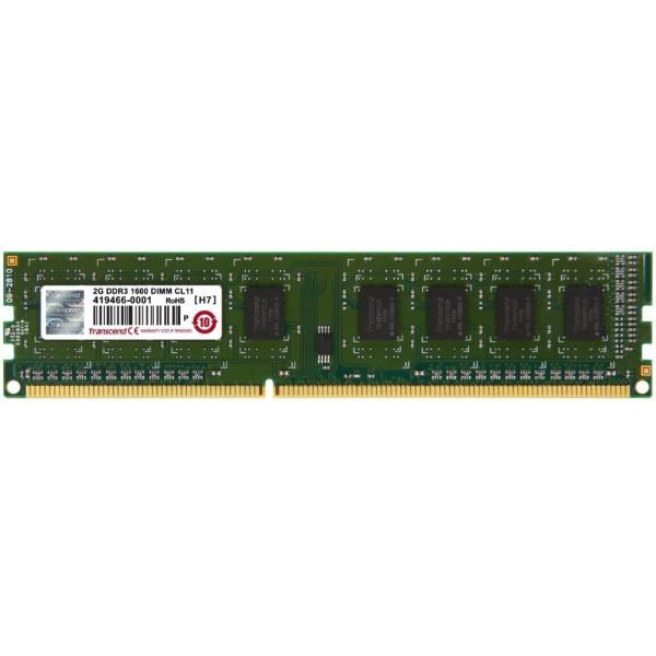 Модуль памяти Transcend DDR3 DIMM 2GB (PC3-12800) 1600MHz JM1600KLN-2G