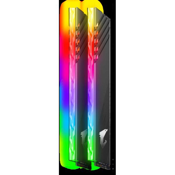 Модуль памяти 16GB Gigabyte DDR4 3600 DIMM Aorus RGB Gray Gaming Memory GP-AR36C18S8K2HU416R Non-ECC, CL18, 1.35V, Kit (2x8GB), RTL