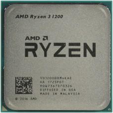 Процессор AMD RYZEN 3 1200 OEM [Socket AM4. 4-ядерный. 3100 МГц. Turbo: 3400 МГц. Summit Ridge. Кэш L2 - 2 Мб. Кэш L3 - 8 Мб. 14 нм. 65 Вт]