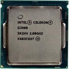 Процессор INTEL CELERON G3900 OEM [Socket 1151. 2-ядерный. 2800 МГц. Skylake-S. Кэш L2 - 0.25 Мб. Кэш L3 - 2 Мб. Intel HD Graphics 510. 14 нм. 51 Вт]