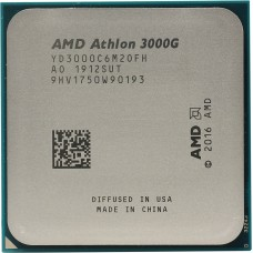 Процессор AMD ATHLON 3000G OEM [Socket AM4. 2-ядерный. 3500 МГц. Raven Ridge. Кэш L2 - 1 Мб. Кэш L3 - 4 Мб. Radeon Vega 3. 14 нм. 35 Вт]