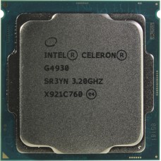 Процессор INTEL CELERON G4930 OEM [Socket 1151 v2. 2-ядерный. 3200 МГц. Coffee Lake-S. Кэш L2 - 0.5 Мб. Кэш L3 - 2 Мб. Intel UHD Graphics 610. 14 нм. 54 Вт]