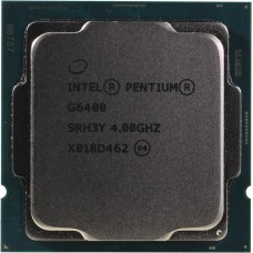 Процессор INTEL PENTIUM GOLD G6400 OEM [Socket 1200. 2-ядерный. 4000 МГц. Comet Lake. Кэш L2 - 0.5 Мб. Кэш L3 - 4 Мб. Intel UHD Graphics 610. 14 нм. 58 Вт]