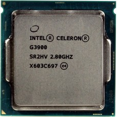 Процессор INTEL CELERON G3900 OEM [Socket 1151. 2-ядерный. 2800 МГц. Skylake-S. Кэш L2 - 0.25 Мб. Кэш L3 - 2 Мб. Intel HD Graphics 510. 14 нм. 51 Вт]