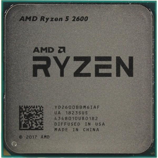 AMD Ryzen 5 2600 (3900MHz/AM4/L2+L3 19456Kb) YD2600BBM6IAF OEM
