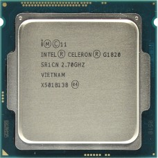 Процессор INTEL CELERON G1820 OEM [Socket 1150. 2-ядерный. 2700 МГц. Haswell. Кэш L2 - 0.5 Мб. Кэш L3 - 2 Мб. Intel HD Graphics. 22 нм. 54 Вт]