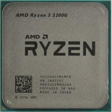 Процессор AMD RYZEN 3 2200G OEM [Socket AM4. 4-ядерный. 3500 МГц. Turbo: 3700 МГц. Raven Ridge. Кэш L2 - 2 Мб. Кэш L3 - 4 Мб. Radeon RX Vega 8. 14 нм. 65 Вт]