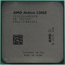 AMD Athlon 220GE (3400MHz/AM4/L2+L3 5120Kb) YD220GC6M2OFB OEM YD220GC6M2OFB