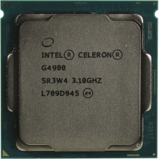 Процессор INTEL CELERON G4900 OEM [Socket 1151 v2. 2-ядерный. 3100 МГц. Coffee Lake-S. Кэш L2 - 0.5 Мб. Кэш L3 - 2 Мб. Intel UHD Graphics 610. 14 нм. 54 Вт]