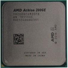 Процессор AMD ATHLON 200GE OEM [Socket AM4. 2-ядерный. 3200 МГц. Raven Ridge. Кэш L2 - 1 Мб. Кэш L3 - 4 Мб. Radeon Vega 3. 14 нм. 35 Вт]