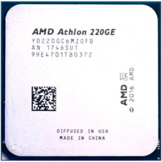 Процессор AMD ATHLON 220GE [Socket AM4. 2-ядерный. 3400 МГц. Raven Ridge. Кэш L2 - 1 Мб. Кэш L3 - 4 Мб. Radeon Vega 3. 14 нм. 35 Вт]
