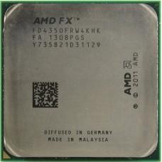 Процессор AMD FX-4350 OEM [Socket AM3+. 4-ядерный. 4200 МГц. Turbo: 4300 МГц. Vishera. Кэш L2 - 4 Мб. Кэш L3 - 8 Мб. 32 нм. 125 Вт]