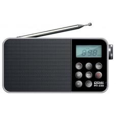 Радиоприемник портативный Сигнал РП-230 черный USB microSD 17836