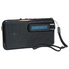 Радиоприемник портативный Сигнал РП-225 черный USB microSD 17826