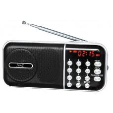 Радиоприемник Max MR-321 Silver/Black micro SD / USB. AM/FM приёмник. LCD экран. воспроизведение до 6 часов. 5 Вт. встроенный сабвуфер 30052