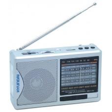 Радиоприемник портативный Hyundai H-PSR160 серебристый USB microSD H-PSR160