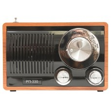 Радиоприемник портативный Сигнал БЗРП РП-330 орех/черный USB microSD 19348