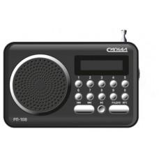 Радиоприемник портативный Сигнал рп-108 черный usb sd 117832