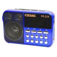 Радиоприемник портативный Сигнал РП-224 черный/синий USB microSD 17825
