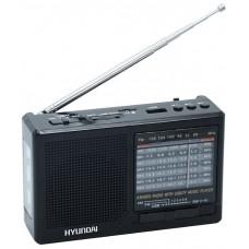 Радиоприемник портативный Hyundai H-PSR140 черный USB microSD H-PSR140