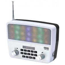 Радиоприемник портативный Сигнал РП-232 белый/черный USB microSD 17842