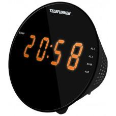 Часы с радиоприемником Telefunken TF-1572 черный оранжевый TF-1572(черныйсянтарным)