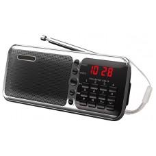 Радиоприемник портативный Сигнал РП-226 черный/серебристый USB microSD 17828