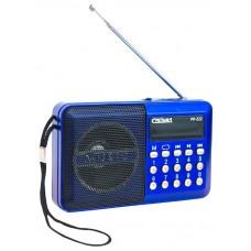 Радиоприемник портативный Сигнал РП-222 черный/синий USB microSD 17823