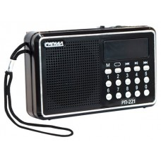 Радиоприемник портативный Сигнал РП-221 черный USB microSD 17818