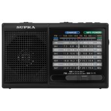 Радиоприемник портативный Supra ST-15U USB SD черный ST-15U