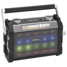 Радиоприемник Vikend disco УКВ 64-108МГц. бат. 2*R20. 220V. USB/microSD/AUX.фонарь/дискосвет
