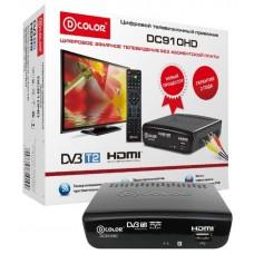 Ресивер DVB-T2 D-Color DC910HD черный DC910HD