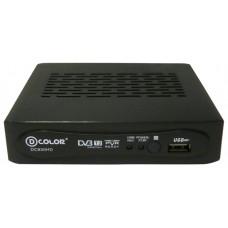 Ресивер DVB-T2 D-Color DC930HD черный DC930HD