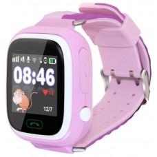 Умные часы детские Ginzzu GZ-505 pink 1.22''/Геолокация по WI-FI/GPS/LBS/Гео-зоны/Кнопка SOS/micro-SIM GZ-505pink