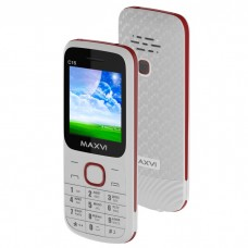 Мобильный телефон MAXVI C15 WHITE-RED 1.77'' 160X128 2SIM 32MB 32MB 800MAH C15WHITE-RED