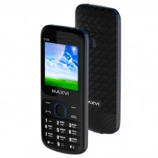 Мобильный телефон MAXVI C15 BLACK-BLUE 1.77'' 160X128 2SIM 32MB 32MB 800MAH C15BLACK-BLUE