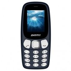 Мобильный телефон Digma Linx N331 mini 2G 32Mb темно-синий моноблок 2Sim 1.77'' 128x160 BT GSM900/1800 FM microSD max16Gb LT1044PM
