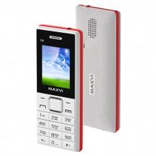 Мобильный телефон Maxvi c9 ds white/red (2 sim)
